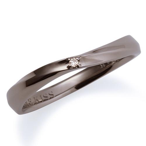 母の日 プレゼント 花以外 ギフト THE KISS ペアリング シルバー リング メンズ ペア ダイヤモンド ブラック ザ・キッス カップル お揃い 指輪 誕生日 記念日 メンズ