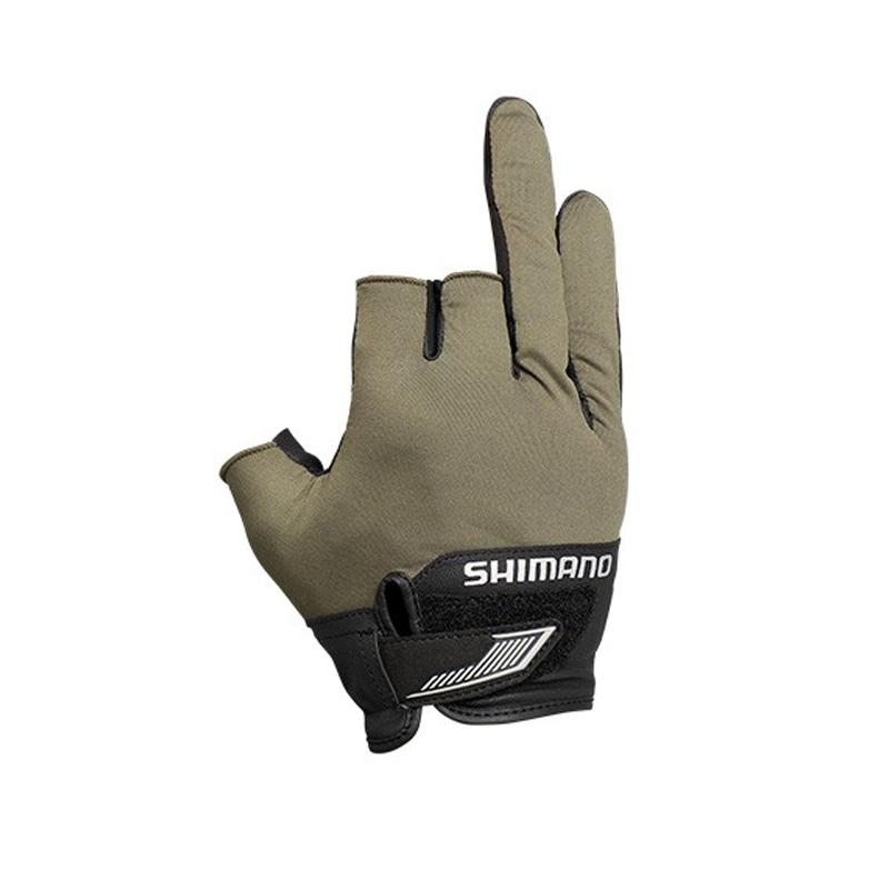 無料サンプルOK -フィッシンググローブ- シマノ SHIMANO GL-021S 3D L 在庫あり 63393 アドバンスグローブ3 カーキ