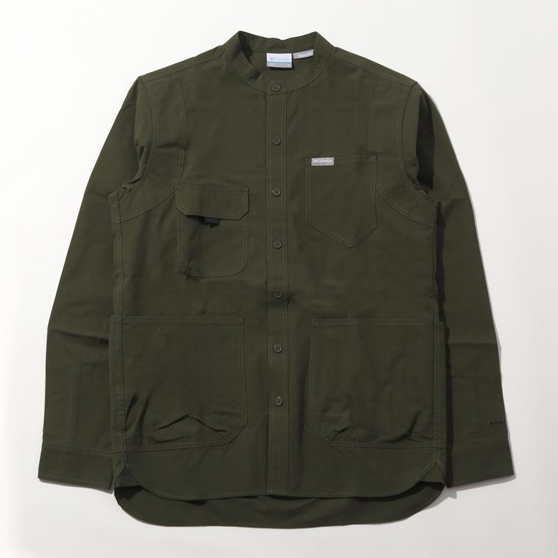 Columbia(コロンビア) Hewson Park L/S Shirt(ヒューソン パーク ロング スリーブ) Unisex M 347(SURPLUS GR) PM6521