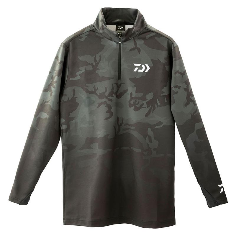 ダイワ(Daiwa) DE-33009 ブレスマジック ハーフジップシャツ 2XL ブラックカモ 08311624