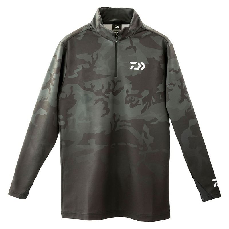 ダイワ(Daiwa) DE-33009 ブレスマジック ハーフジップシャツ L ブラックカモ 08311622