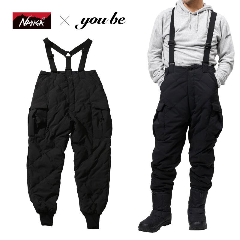 ナンガ(NANGA) 【 NANGA×you beコラボ企画】DOWN CARGO PANTS(ダウン カーゴ パンツ) L BLACK(ブラック) NMNDZG1