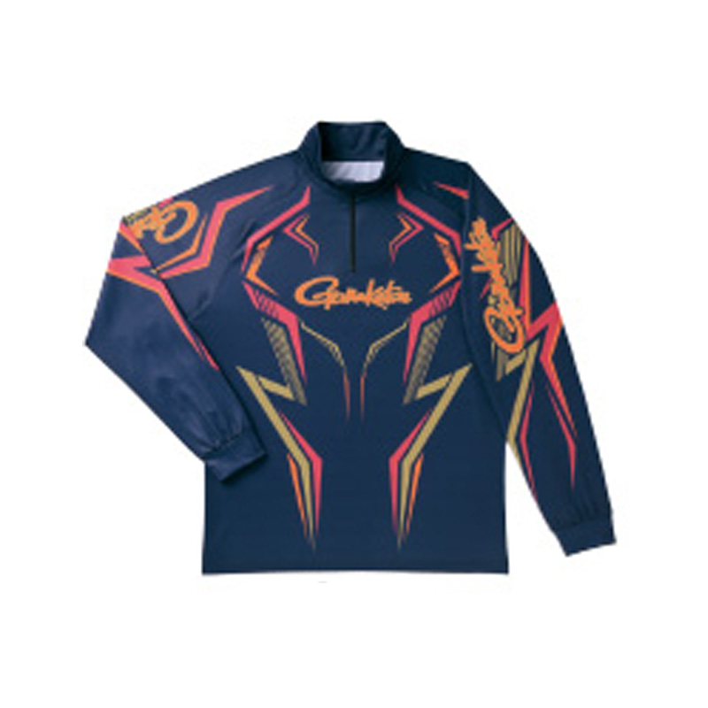 がまかつ(Gamakatsu) 2WAYプリントジップシャツ(長袖) GM-3540 LL ネイビー 53540-44-0