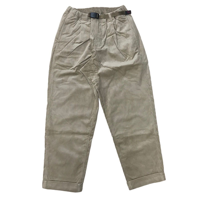 GRAMICCI(グラミチ) CORDUROY TUCK TAPERED PANTS L BEIGE GMP-020