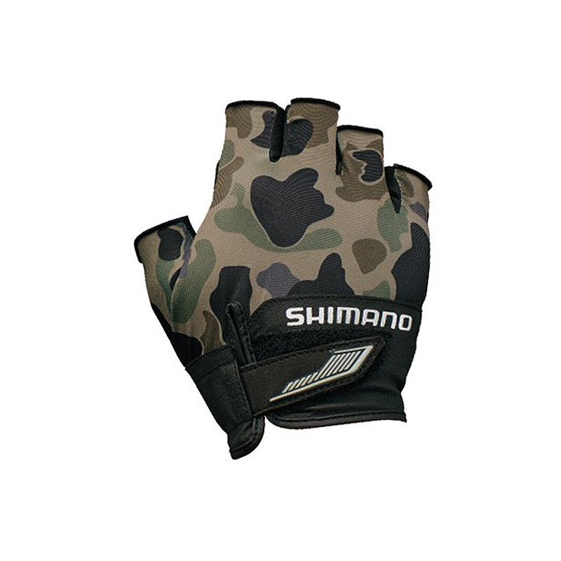 -フィッシンググローブ- シマノ 百貨店 1着でも送料無料 SHIMANO GL-022S 3D アドバンスグローブ5 66959 L カーキダックカモ