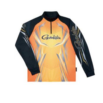 がまかつ(Gamakatsu) 2WAYプリントジップシャツ(長袖) GM-3616 L オレンジ 53616-43-0