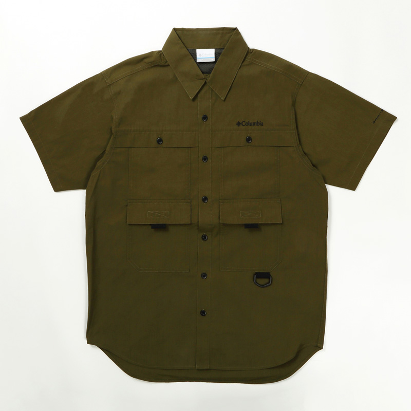 Columbia(コロンビア) ヒューソン パーク ショート スリーブ シャツ Men's XL 327(New Olive) PM6518
