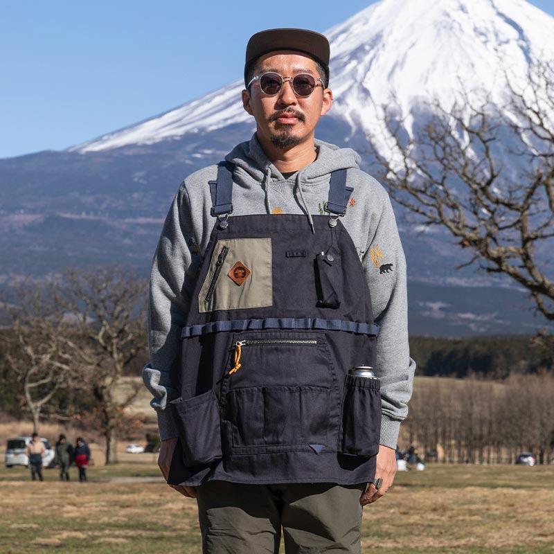 ジーアールエヌアウトドア(grn outdoor) HIASOBI CAMPER VEST L BLACK(ブラック) GO0218Q