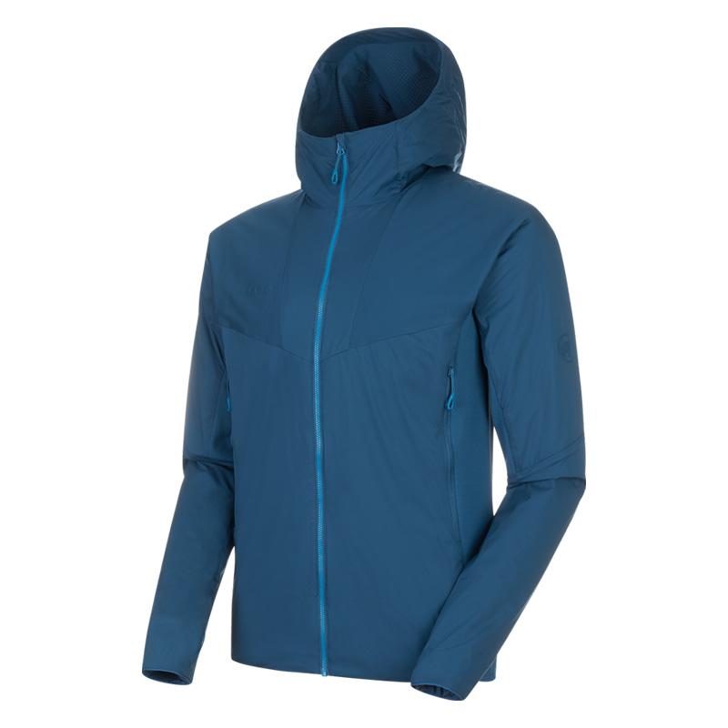 MAMMUT(マムート) Rime Light IN Flex Hooded Jacket AF Men's L 50227(wing teal) 1013-01300