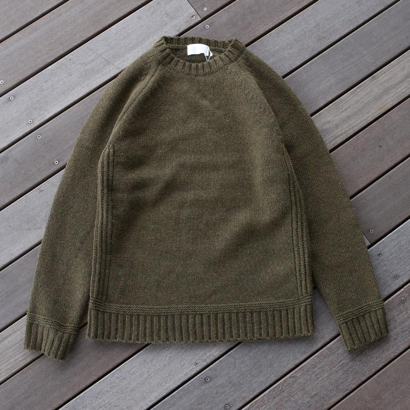 -アウトドアシャツ メンズ 開店祝い - soglia ソリア LANDNOAH Khaki 物品 sog001 Sweater L