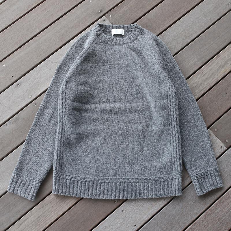 おすすめ -アウトドアシャツ メンズ - soglia ソリア sog001 Sweater Gray M LANDNOAH 新品■送料無料■