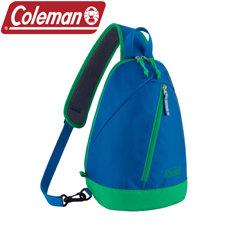 -アウトドアバッグ(ジュニア/キッズ/ベビー)- Coleman(コールマン) スリング バッグ ミニ(SLING BAG MINI キッズ) 約4.5L ブルー×グリーン 2000037833