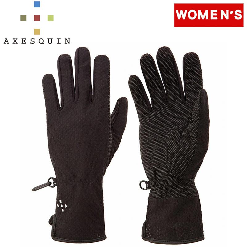 -小物 注文後の変更キャンセル返品 レディース - アクシーズクイン AXESQUIN 21春夏 W's UV ブラック Long AG6715 L Glove 1年保証 B02 Mesh