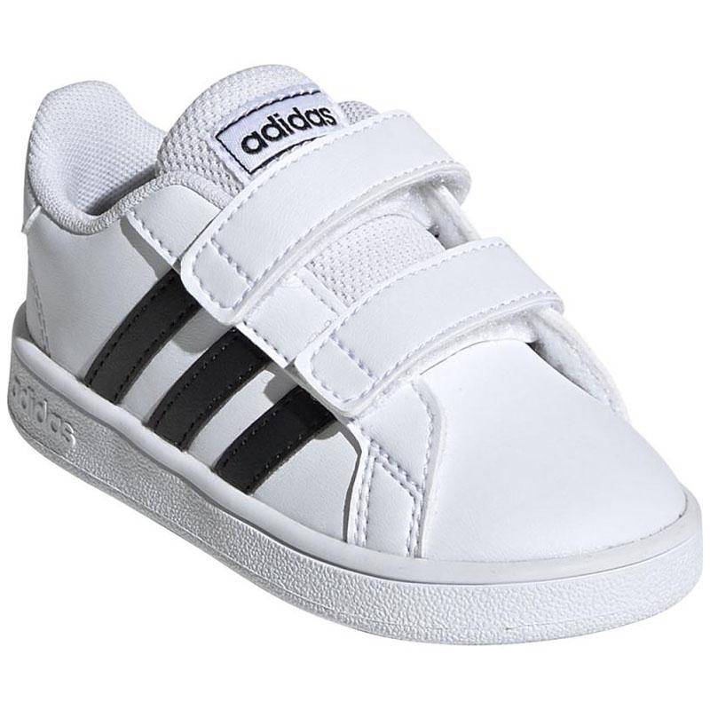 -テニスシューズ- adidas(アディダス) GRANDCOURT I 13.0cm フットウェアホワイト×コアブラック×フットウェアW ADJ-EF0118-130