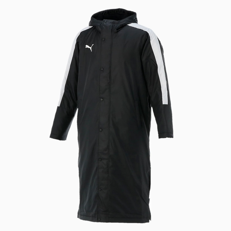 -ベンチコート- PUMA(プーマ) TT ESS Pro ロングボアコート メンズ XL 01(プーマ ブラック×プーマ ホワイト) 654983