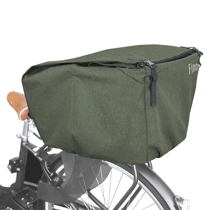 -自転車アクセサリー- FINO フィーノ REAR 公式通販 BASKET 往復送料無料 COVER 自転車用カゴカバー カーキ YBK03401 後用 FN-RE-01