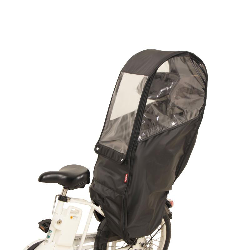 -自転車アクセサリー- 大久保製作所 OKUBO D-5RBBDX2 お買い得 ブラック 後ろ用チャイルドシートレインカバー 供え