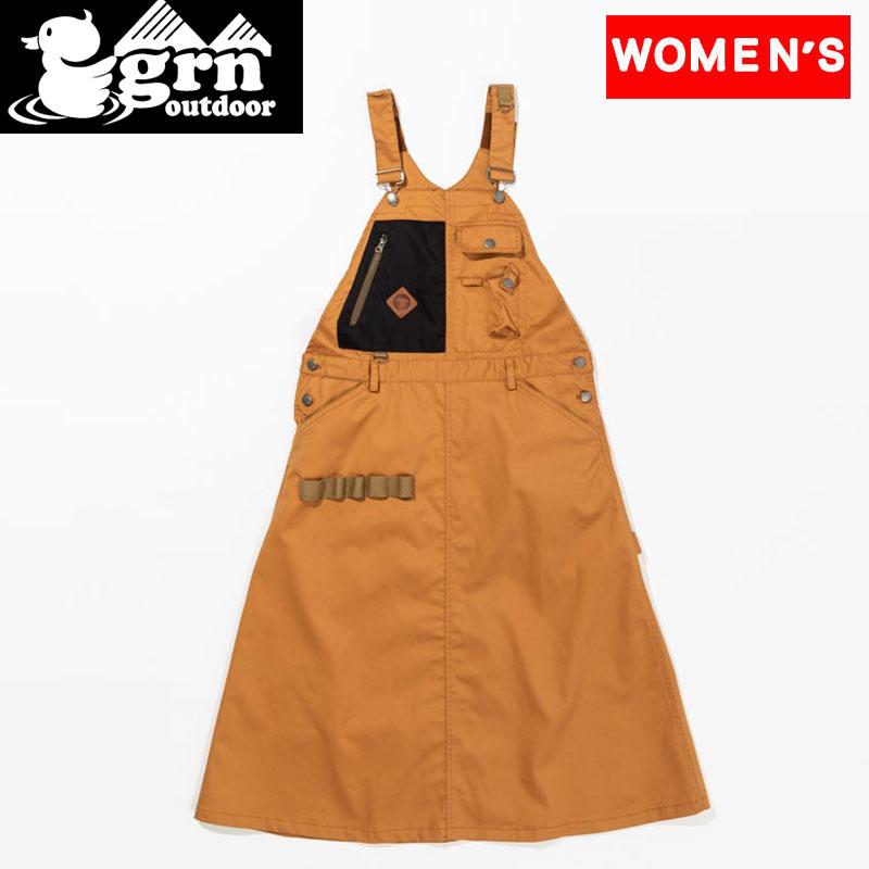 即日出荷 -パンツ スカート レディース - ジーアールエヌアウトドア grn outdoor 21秋冬 セール品 HIASOBI ジャンスカ JAN-SKA ヒアソビ フリー キャンパー GO1302Q CAMPER CAMEL