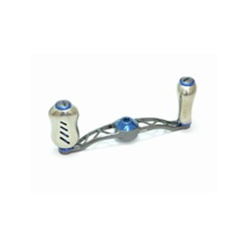 リブレ(LIVRE) クランク フェザー +Fino シマノ用 右巻き 85mm GMB(ガンメタ×ブルー) FRSF85-FI-GMB