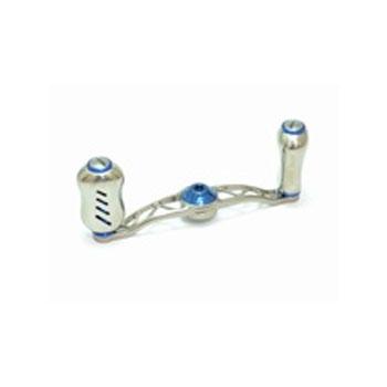 リブレ(LIVRE) クランク フェザー +Fino ダイワ/ABU/フルーガー用 右巻き 85mm TIB(チタン×ブルー) FRDF85-FI-TIB