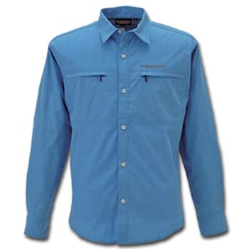 フリーノット(FREE KNOT) BOWBUWN(ボウブン) ライトフィールドシャツ L 70(ブルー) Y1431
