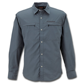 フリーノット(FREE KNOT) BOWBUWN(ボウブン) ライトフィールドシャツ L 93(チャコール) Y1431