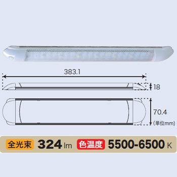 bmojapan(ビーエムオージャパン) LED薄型キャビンライト12V ハイパワーLED6個 CH-701H