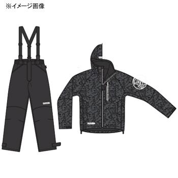パズデザイン BSウォームレインスーツII XL ブラックカモ SBR-035