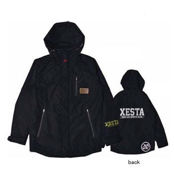 ゼスタ(XeSTA) 透湿防水レインジャケット S ブラック