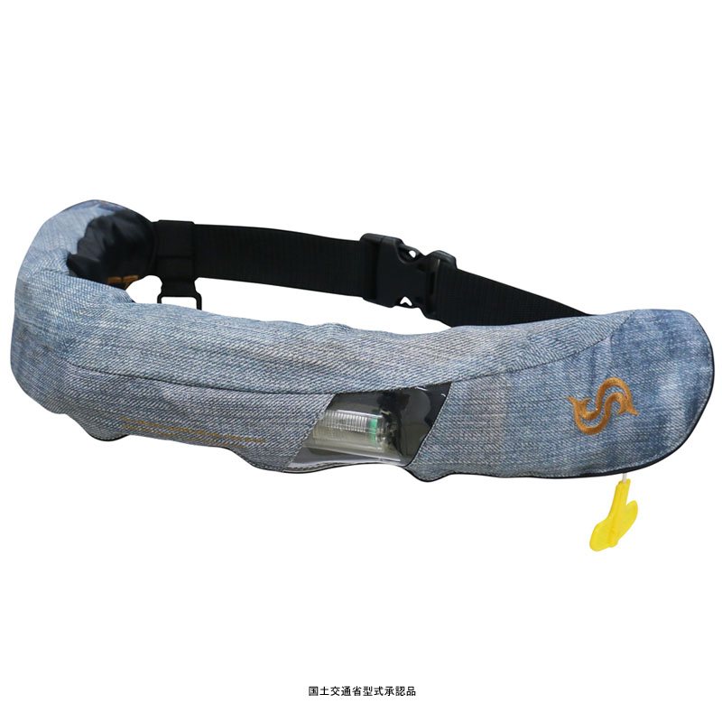 Takashina(高階救命器具) 国土交通省承認 腰巻式ライフジャケット 桜マーク タイプA ジーンズ BSJ-5520RS