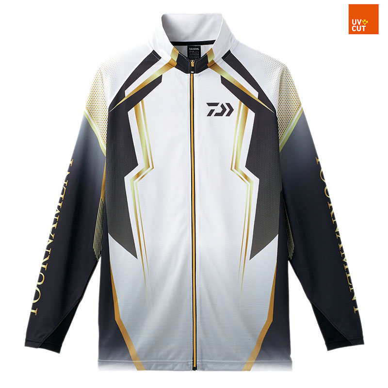 ダイワ(Daiwa) DE-73008 トーナメント ドライフルジップ メッシュシャツ 3XL ホワイト 08330320