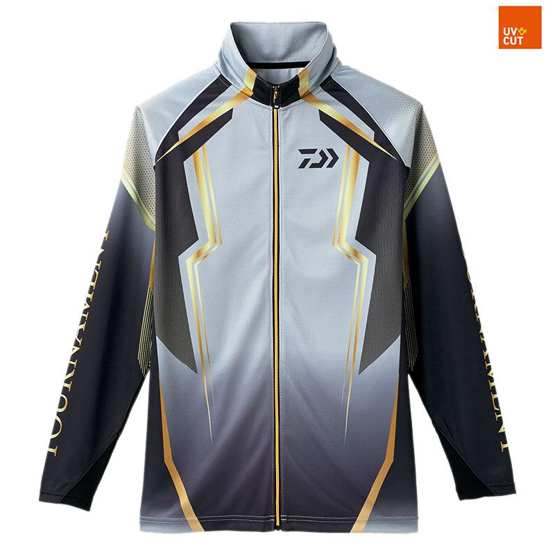 ダイワ(Daiwa) DE-73008 トーナメント ドライフルジップ メッシュシャツ 2XL スチールグレー 08330324