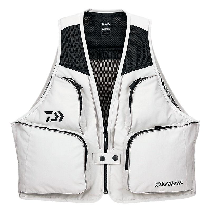 ついに再販開始 フィッシングベスト ダイワ Daiwa 日本最大級の品揃え DV-3608 M 08330215 サーフベスト ライトグレー