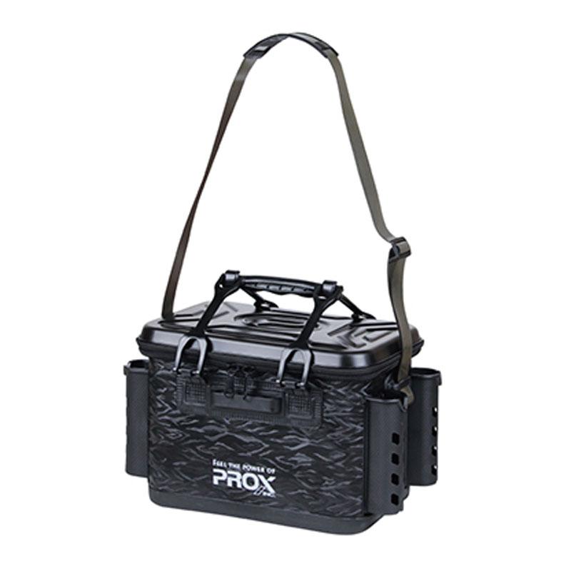 タックルバッグ プロックス PROX EVA 売買 日本産 タックルバッカン 36cm ロッドホルダー付 PX966236BK ブラック