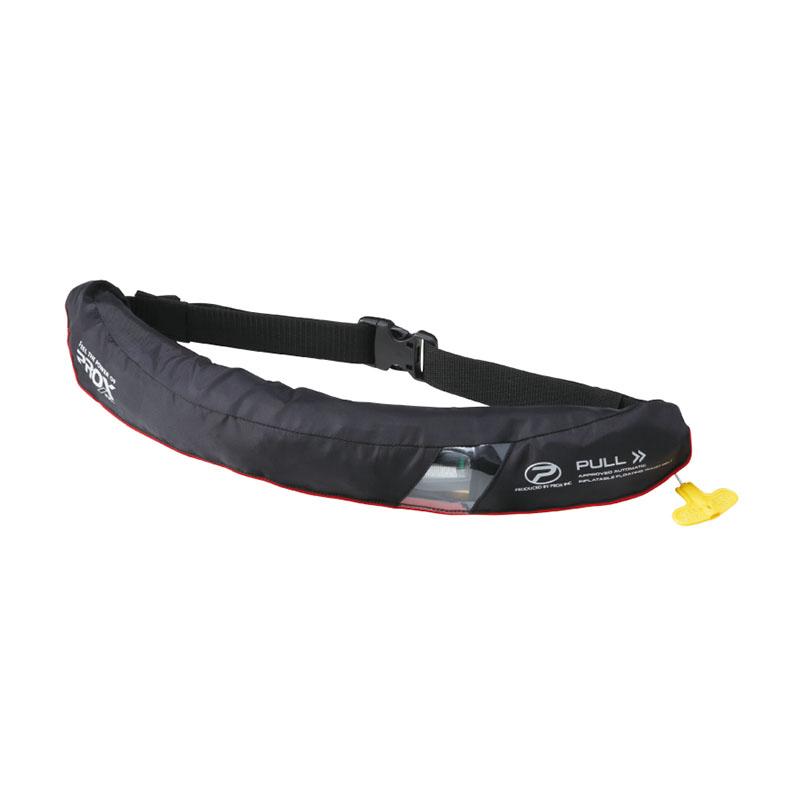 プロックス(PROX) 自動膨脹式救命胴衣ウエストタイプ検定品 大人用 タイプA 遊漁船(釣り船)対応 フリー ブラック PX032AK