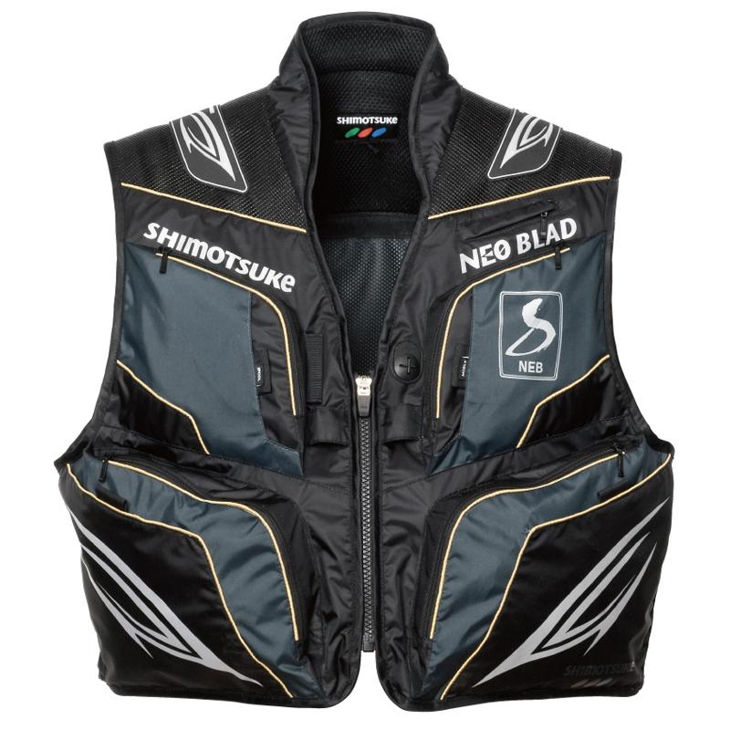 下野(しもつけ) NEB ネオブラッドベスト WB LL ブラック×グレー SMV-330