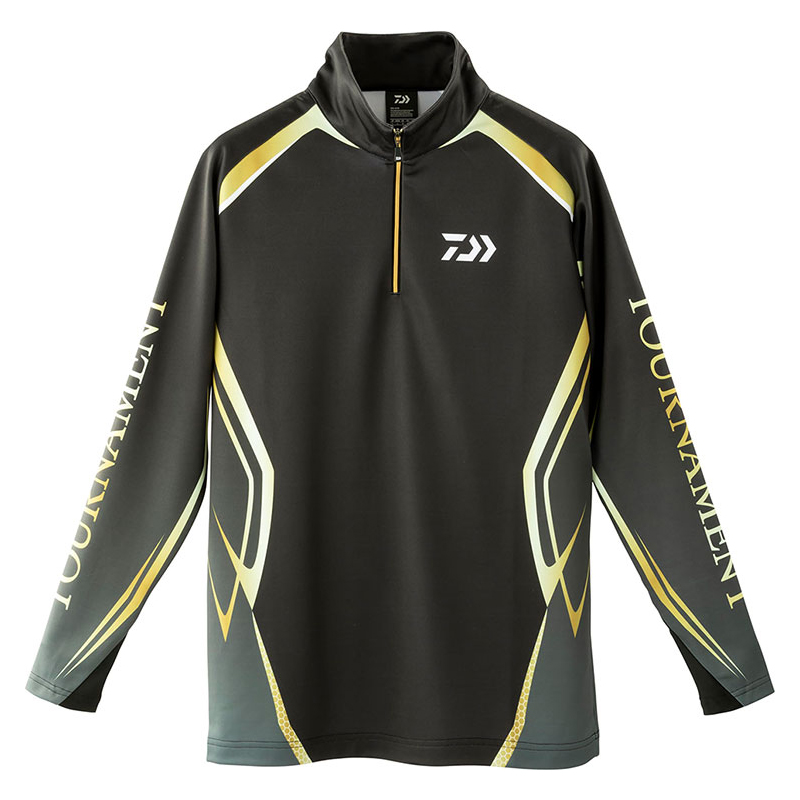 ダイワ(Daiwa) DE-31009T トーナメント ブレスマジック ハーフジップシャツ XL ブラック 08311583