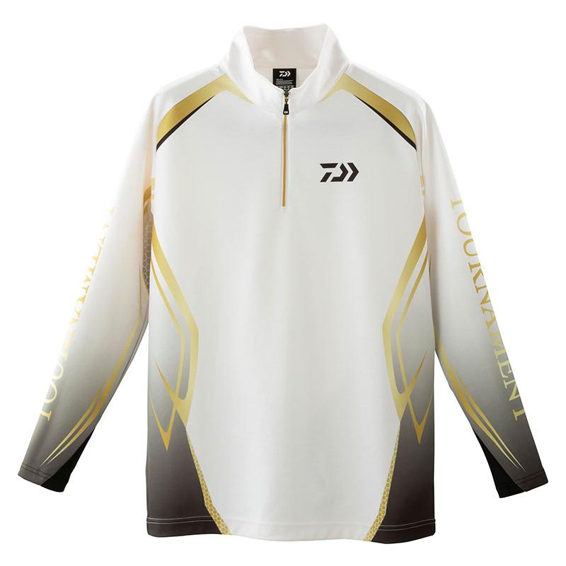 ダイワ(Daiwa) DE-31009T トーナメント ブレスマジック ハーフジップシャツ XL ホワイト 08311588