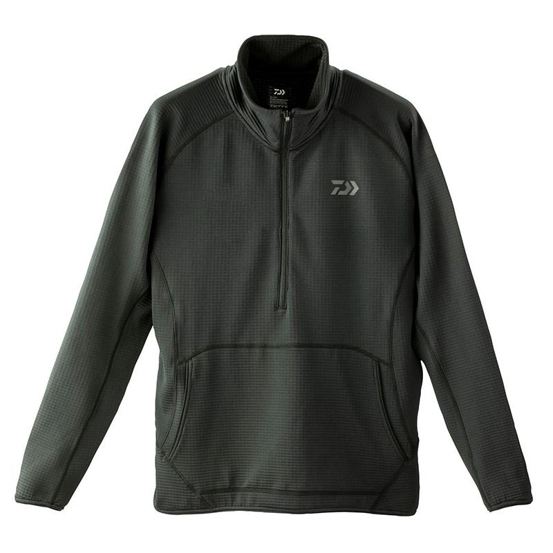 ダイワ(Daiwa) DE-91009 ミドルウェイトハーフジップシャツ L ブラック 08311832
