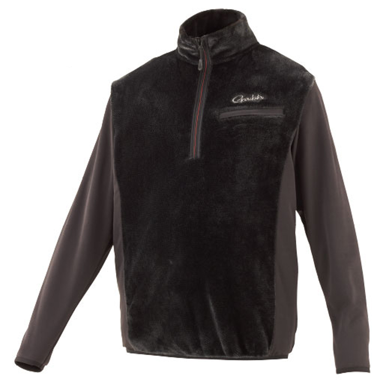 がまかつ(Gamakatsu) ボアフリースハーフジップシャツ GM-3614 L ブラック 53614-13-0