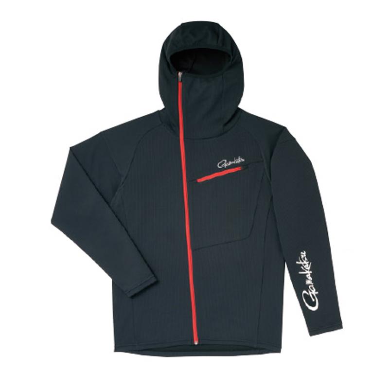がまかつ(Gamakatsu) フーデッドジップシャツ GM-3566 L ブラック 53566-13-0