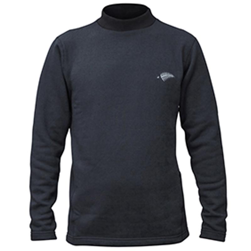 ハヤブサ(Hayabusa) モックネックシャツ超厚手 3L 90 ブラック Y1639-3L-90