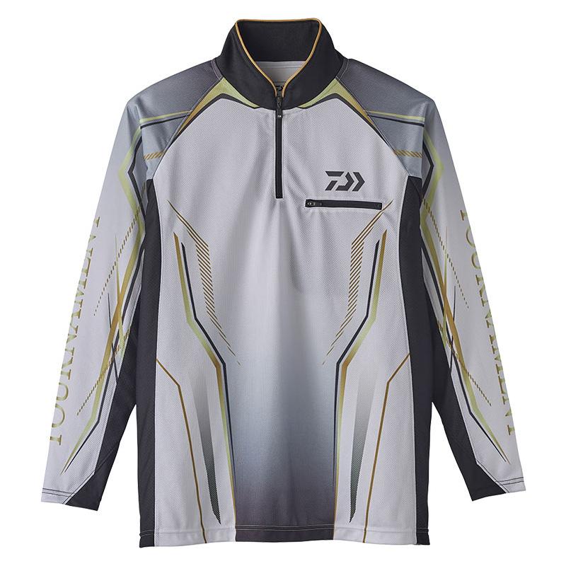 ダイワ(Daiwa) DE-73020 トーナメント アイスドライ ジップアップ メッシュシャツ 2XL ホワイト 08331964