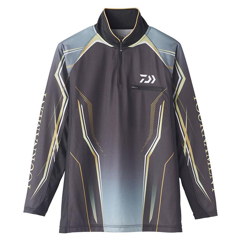 ダイワ(Daiwa) DE-73020 トーナメント アイスドライ ジップアップ メッシュシャツ 2XL ブラック 08331969