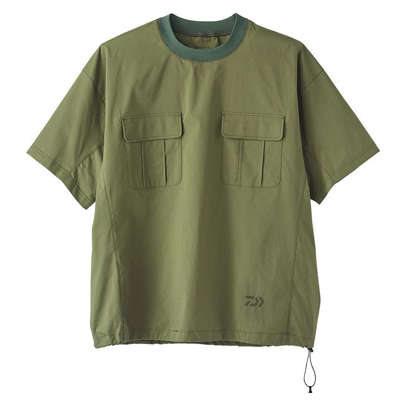 ダイワ(Daiwa) DE-89020 クールマックス ストレッチ クルーネックシャツ L オリーブ 08332446