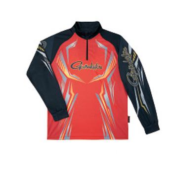 がまかつ(Gamakatsu) 2WAYプリントジップシャツ(長袖) GM-3616 L レッド 53616-23-0