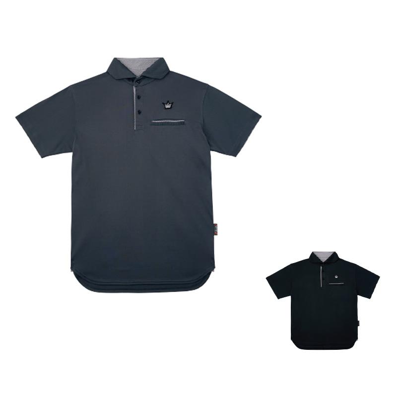 がまかつ(Gamakatsu) ポロシャツ(クラウンエディション・ロング丈) GM-3636 M ブラック 53636-12-0
