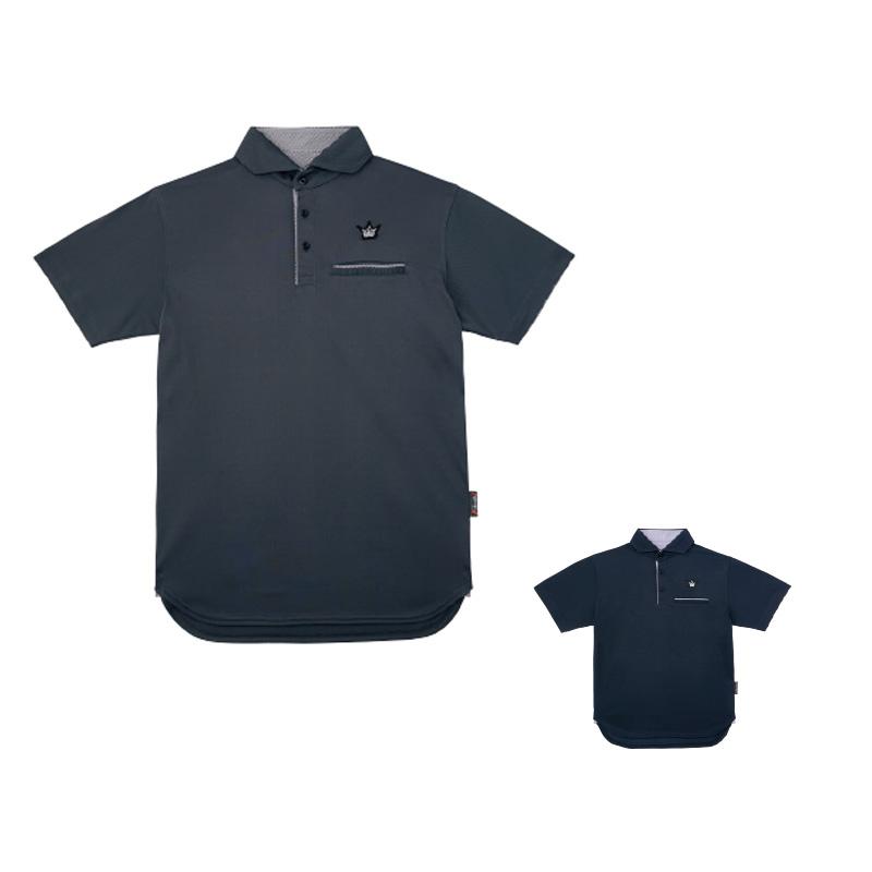 がまかつ(Gamakatsu) ポロシャツ(クラウンエディション・ロング丈) GM-3636 L ネイビー 53636-23-0