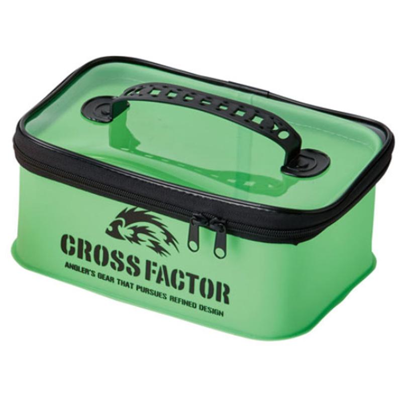 フィッシングケース クロスファクター CROSS FACTOR EVAカラーシステムケース スーパーセール期間限定 25cm ライム AEM704-25LM 商舗