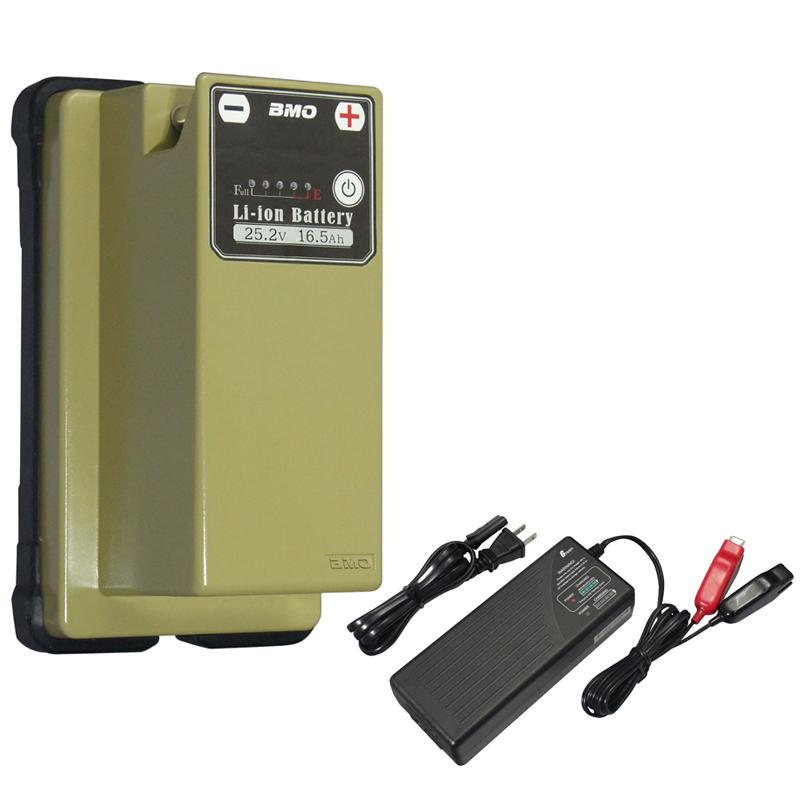 bmojapan(ビーエムオージャパン) リチウムイオンバッテリー25.2V 16.5Ah+チャージャー セット 10Z0011